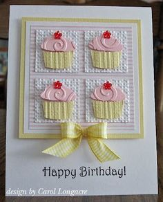 Cupcake Punch | Stampin Up Cupcake cards | Pinterest