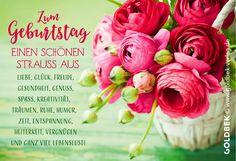 Postkarten - Geburtstag. Ein sehr schönes Blumenmotiv.