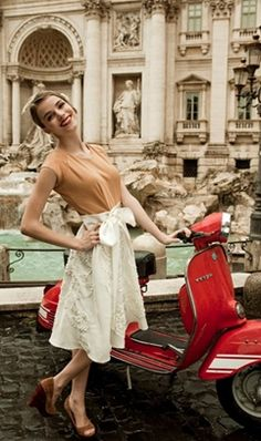 dreaming of traveling Europe with a pretty frock, vintage vespa, and youthful sense of adventure...