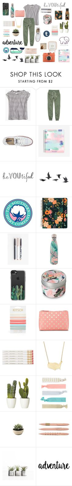 """R E A L L Y"" by tumblrstyles-2017 ❤ liked on Polyvore featuring J.Crew, H&M, Converse, Jayson Home, Southern Proper, U Brands, Vineyard Vines, S'well, Casetify and Kitsch"
