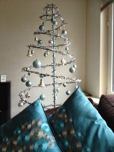 """De winnares Sandra K., van de """"promoot mijn facebook/pinterest aktie"""" van  www.detuinfee.nl,heeft de Kerst Spiraal bijzonder fraai op getuigd, de foto kan zo in een glamour magazine."""