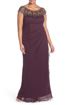 online shopping for Xscape Beaded Neck Empire Gown (Plus Size) from top store. See new offer for Xscape Beaded Neck Empire Gown (Plus Size) Plus Size Formal Dresses, Formal Dresses For Women, Plus Size Outfits, Mother Of The Bride Trouser Suits, Mother Of The Bride Plus Size, Evening Dresses Plus Size, Mom Dress, Plus Size Kleidung, Plus Size Womens Clothing