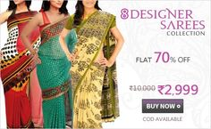 Sarees Collection 8 Designer – 5G3G   http://offerground.com/sarees-collection-8-designer-5g3g/#.UZHbOcpsMrc  Welcome a new season of style in your lifestyle with this vibrant, style combo which offers you 8 vivacious designer sarees. If you have penchant for ethnic wear, then this pack of 8 designer sarees