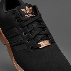 super popular e6a5d 174f1 WOMENS ADIDAS ZX FLUX CORE BLACK COPPER ROSE GOLD BRONZE S78977 LIMITED  EDITION