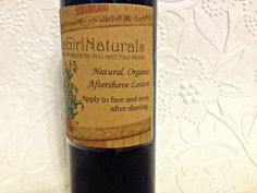 Natural Organic Aftershave Lotion Made With by GaGirlNaturals