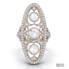 Vintage navette ring