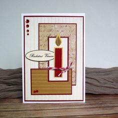 Christmas cards - candle, christmas, holliday