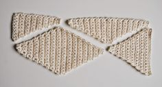 De Estraperlo: How to crochet diamonds ༺✿ƬⱤღ✿༻
