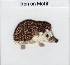 HEDGEHOG IRON ON APPLIQUE MOTIF PATCH, BRAND NEW