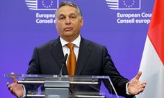 Viktor Orbán attacks EU policy, saying the influx of Muslim refugees poses a threat to Europe's Christian identity