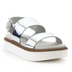 Sandalia metalizada flatform XTI Flatform, Outlet, Shoes, Fashion, Vacations, Winter, Women, Moda, Zapatos