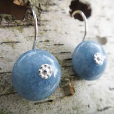 Erika is amazing - love her jewelry so much.   Dreamy celestial blue angelite shield earrings by AntoinetteDesign, $40.00