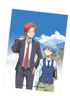 I KNOW IVE ALREADY SAID THIS BUT I SHIP THESE TWO SO HARD IM SO SAD THAT THEY COULDVE BEEN TOGETHER BUT THEY DIDNT AND I STILL HAVENT RECOVERED  || Nagisa and Karma || || Assasination Classroom ||