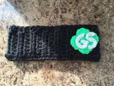 Chunky Girl Scout crochet ear warmer headband