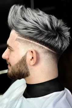 Silver hair men guidance to the gray fox look. Find out how to achieve, maintain and style this extremely popular hair color. Grey Hair Color Men, Ash Grey Hair, Grey Hair Dye, Men Hair Color Highlights, Lilac Hair, Pastel Hair, Green Hair, Silver Hair Men, Silver White Hair