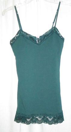 Item ID: 382100426140 Junior's Size M (7/9) NO BOUNDARIES Green Lace Trim Cami Top Built-in-Bra NWT #NoBoundaries #TankCami #Casual