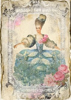 Fontainebleau Marie Antoinette Shabby Chic por VorontsovaART, $4.80