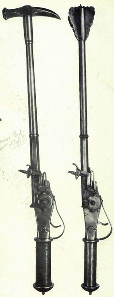 Combination weapon, 1540-1620.