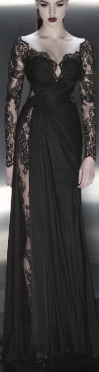 Hi-slit with lots of lace!