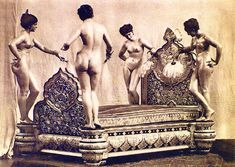 In 1882 Sadiq Muhammad Khan Abbasi IV, Nawāb of Bahawalpur, anonymously commissioned a bed in rosewood covered with about a third of a ton of chased and engraved sterling silver from La Maison Christofle in Paris. The bedposts were four life-size automatons, nude (though bewigged) female figures representing European types, powered by four crank-wound spring mechanisms in their pedestals.
