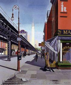 Charles L. Goeller (American artist, 1901-1985) Third Avenue, 1934