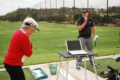 Testing Golf MTRx™ at the range with our good friend Sheri Hayes.