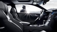 2015 GENESIS COUPE IN BLACK LEATHER INTERIOR