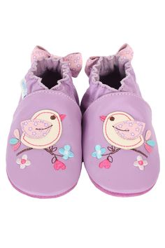 Robeez Infant Pretty Bird Shoes in Lavender - Beyond the Rack