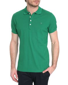 DIESEL, Yahei Green Short-Sleeved Polo Shirt