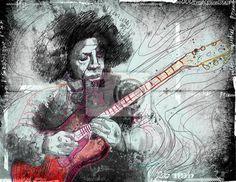 Välj en fototapet från kategorin Konst, ljuda, illustration - gitarrist - en handritad grunge illustrationen. PIXERS fototapeter gjorda av fantastiska tryckmaterial. Välj  artistiska foton från vår katalog.