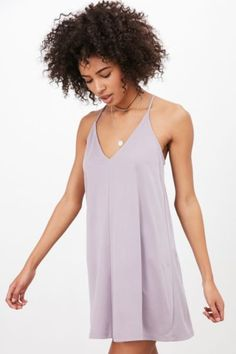 Silence + Noise V-Neck Cupro Mini Dress - Urban Outfitters