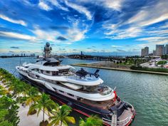Attessa IV #Superyacht is Docked in Downtown Miami