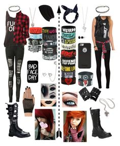 """""""POLYVORE STYLE VS. ACTUAL STYLE"""" by girlwholikes5sos ❤ liked on Polyvore featuring Boohoo, Demonia, River Island, Alexander McQueen, Jeffree Star, Music Notes, Local Heroes, AG Adriano Goldschmied, Volatile and BERRICLE"""