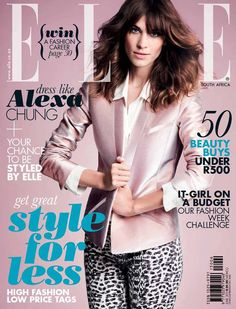 Alexa Chung for Elle South Africa June 2013.