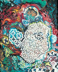 "Treiops Treyfid artwork. Optimism  Oil on canvas, 21w"" x 26h"" #treiops #painting #artwork"