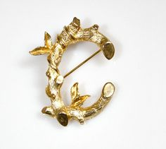 Vintage Sarah Coventry Pin / Brooch  Letter C  by estatesalegems, $4.50