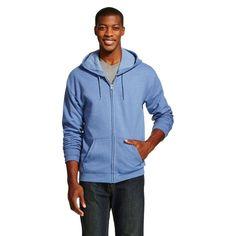 Hanes Premium Men's Fleece Zip up Hooded Sweatshirt - Heather Blue 2XL, Size: Xxl