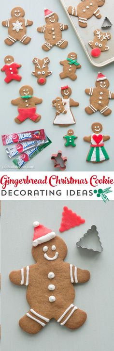 "Christmas Gingerbread Cookie Decorating Ideas, use Airheads candy to cut out ""clothes"" and accessories for your gingerbread men"