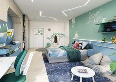 Tyrkysový dětský pokoj pro chlapce Studios, Kids Room, Bed, Inspiration, Furniture, Home Decor, Biblical Inspiration, Room Kids, Decoration Home