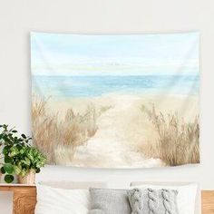 Best coastal wall decor and beach themed wall art for your home. We have some of the absolute best beach style wall decorations including canvas art, wall art, metal art, wooden beach signs, and more. Beach Theme Wall Decor, Beach Wall Decals, Coastal Wall Decor, Wall Decor Design, Wall Art Designs, Art Decor, Cheap Wall Tapestries, Wall Tapestry, Impression 3d