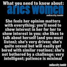 About an aries woman
