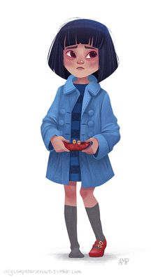 ArtStation - Pacific Rim Mako Mori as a child, Jano Cervellera Character Design Cartoon, Kid Character, Character Design References, Character Design Inspiration, Character Drawing, Character Illustration, Character Concept, Character Design Animation, Tag Art