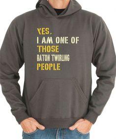 Yes I Am One Of Those Baton Twirling People Sports door Idakoos, $36.00