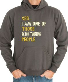 Yes I Am One Of Those Baton Twirling People Sports door Idakoos, $36.00