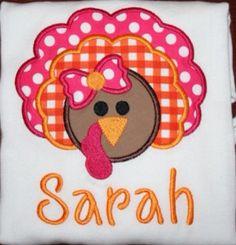 Fall Girl Turkey Shirt  Applique  by MajorMonograms on Etsy, $20.00