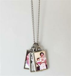 Mini Photo Album Necklace. This would make a cute grandparent gift!