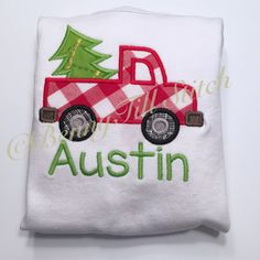 65115c3cbc7 Items similar to Truck Christmas tree shirt for boys