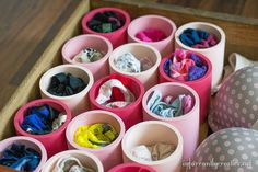For just $8 in PVC pipe and a few cans of spray paint, Beckie at Infarrantly Creative transformed her messy undies drawer into an organized work of art. Check out her tutorial here.