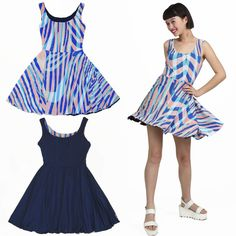Buy this party dress for teens that is reversible and twirly. Classic and timeless style that is ahead of the trend. Girls Blue Dress, Blue Dresses, Summer Dresses, Dresses For Teens, Girls Dresses, Reversible Dress, Full Circle Skirts, Boutique Clothing, Dress Skirt