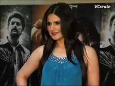 Zarine Khan looking BEAUTIFUL in blue dress at premiere of the movie DAVID.